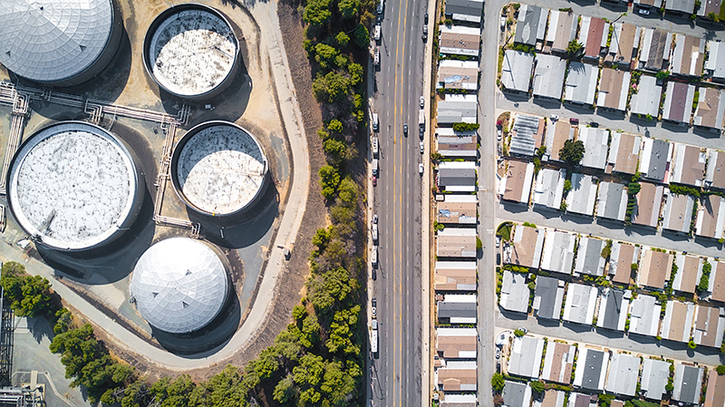 LOS ANGELES—Southern California is a major oil producer, and storage facilities and refineries make for uncomfortable bedfellows for working class neighborhoods like these.